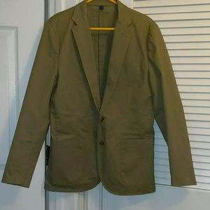 Men's J Crew Double Button Khaki Blazer
